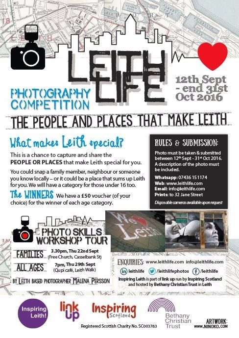Photo workshop with Inspiring Leith - Leith Life