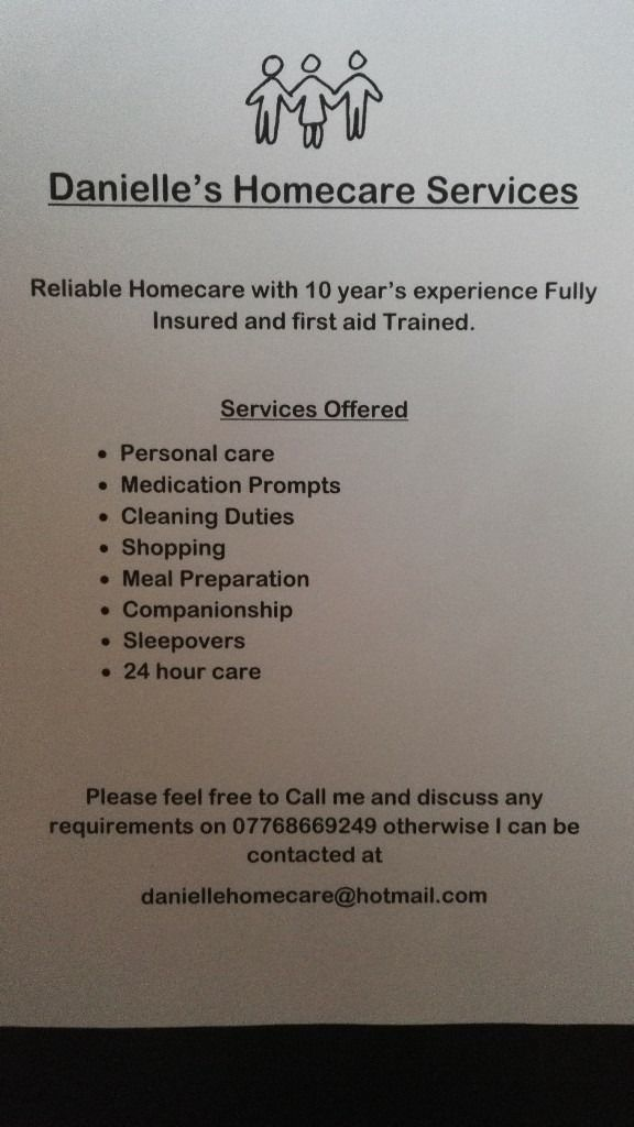 homehelp/HomeCare available