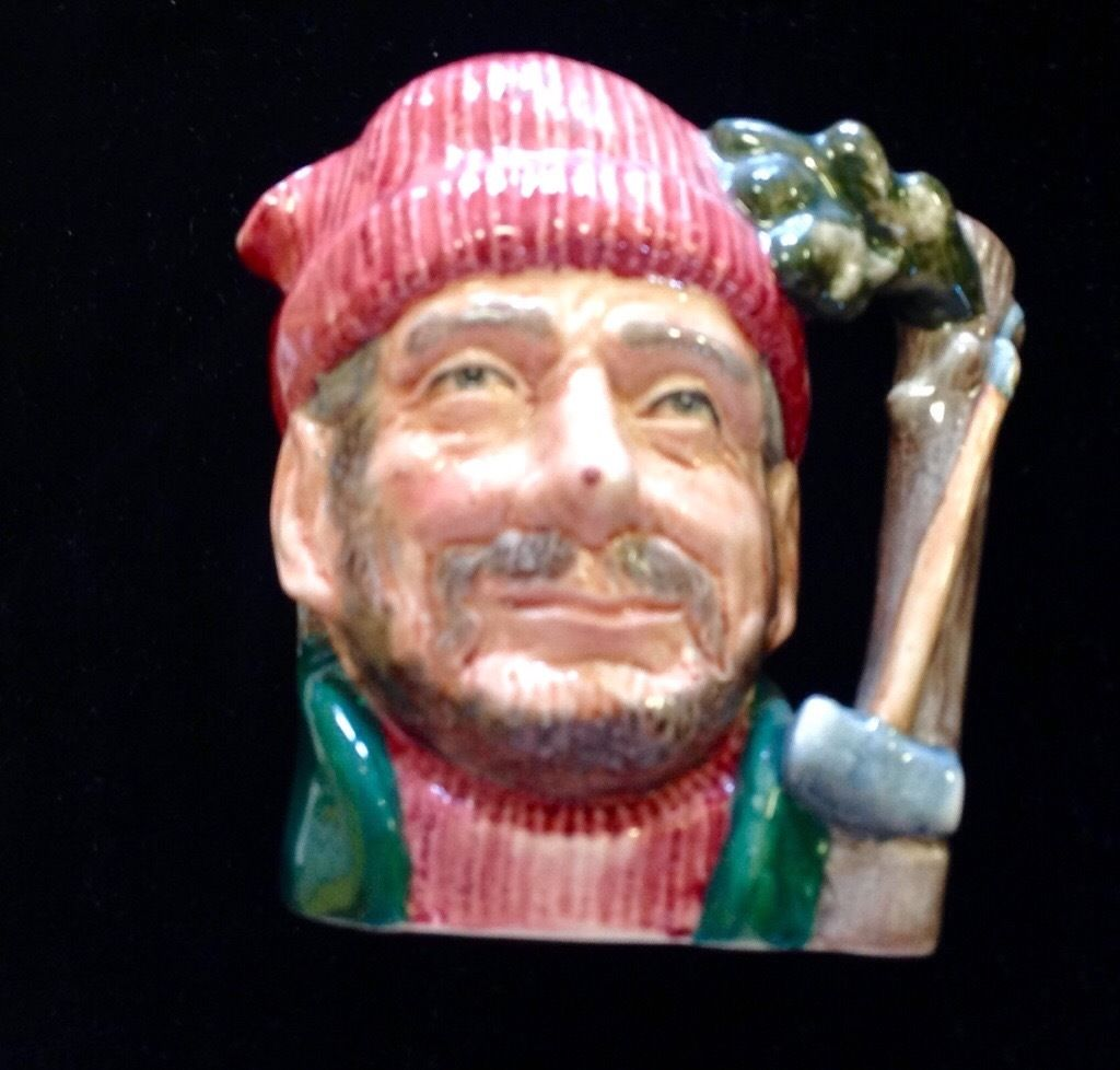 Royal Doulton small character jug The Lumberjack.