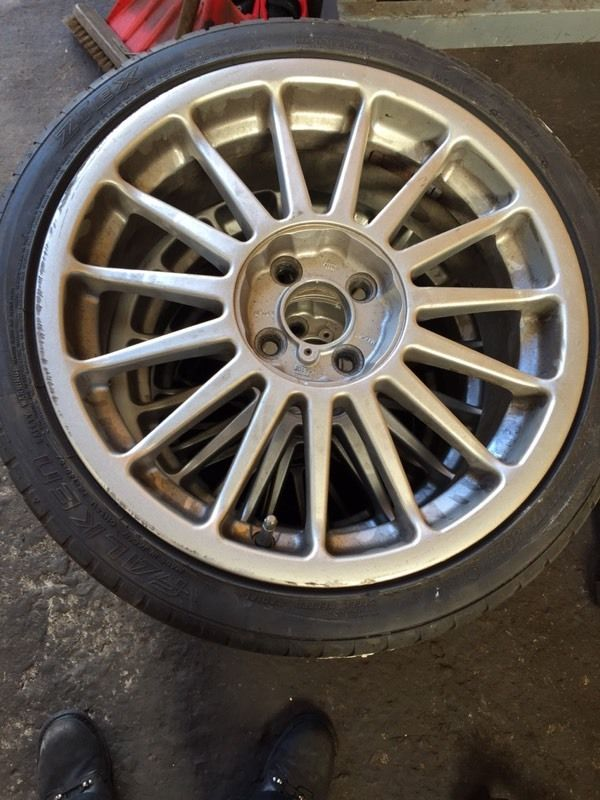 4x100 multi spoke alloys 17""