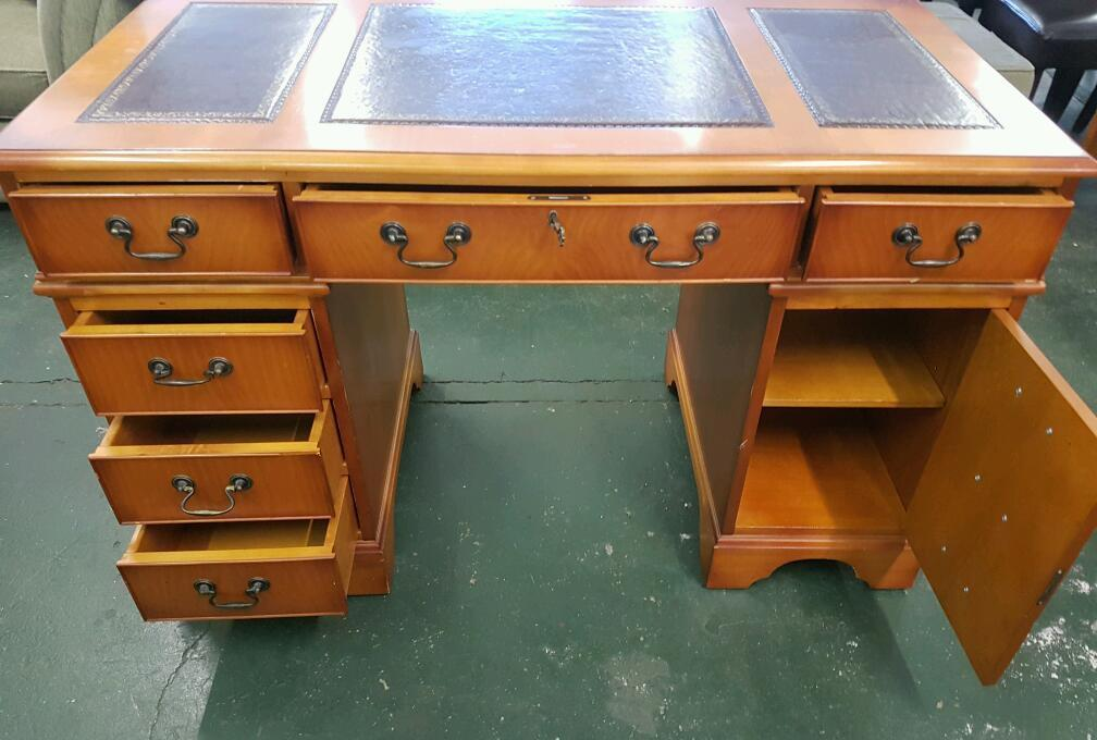 Rosewood Leather Topped Desk