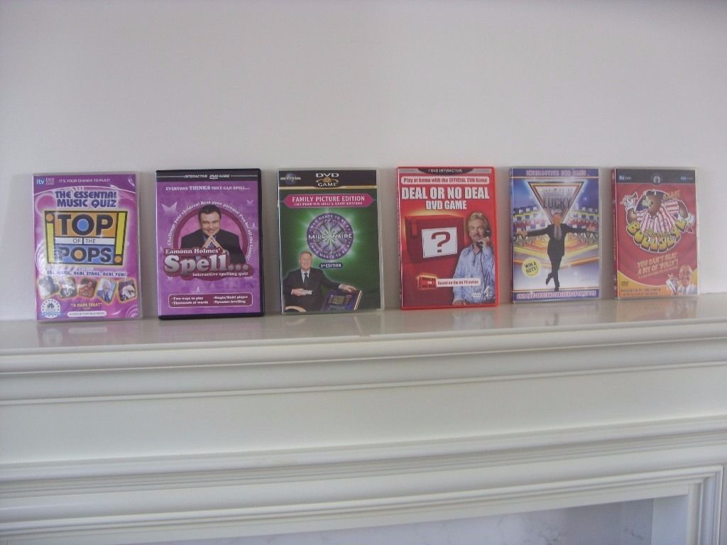 (6) INTERACTIVE DVD/TV GAMES