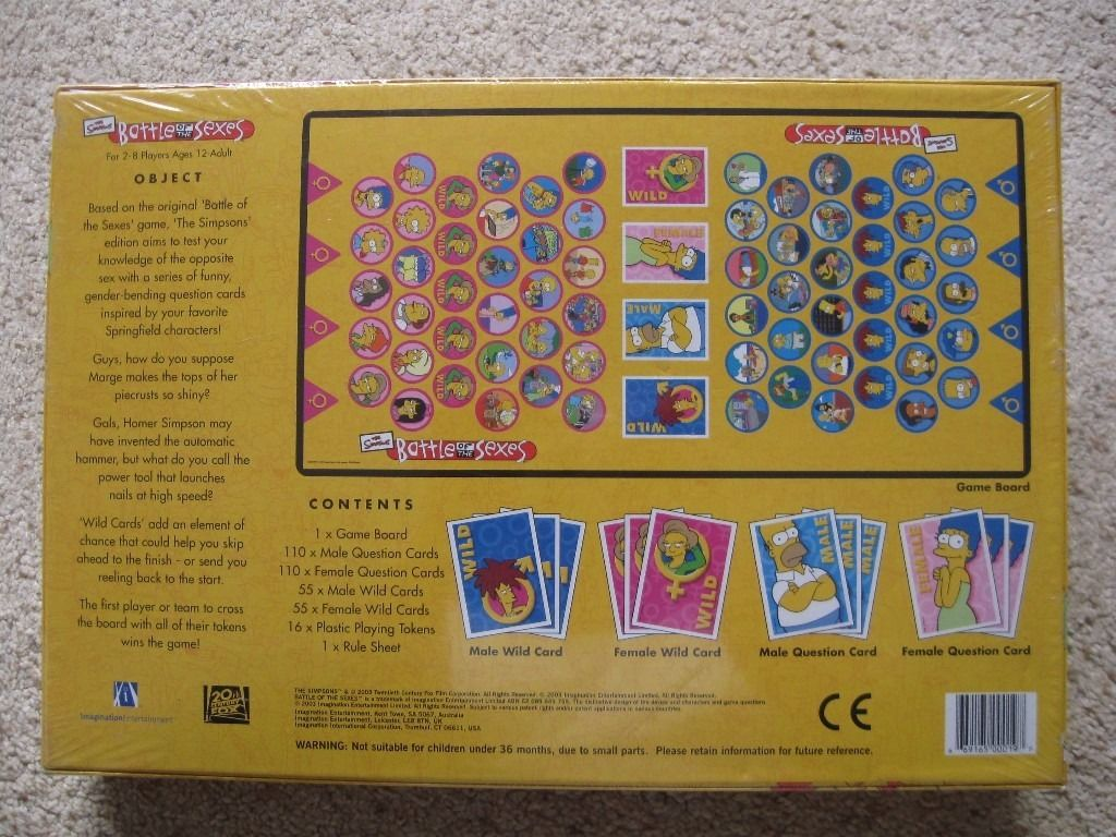 The Simpsons Battle Of The Sexes Game - New and sealed