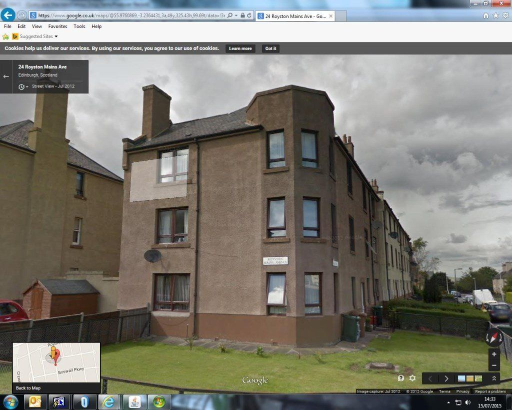 2 bedroom 2nd floor flat & garage Edinburgh for 1 or 2 bedroom ground floor Edinburgh West Lothian