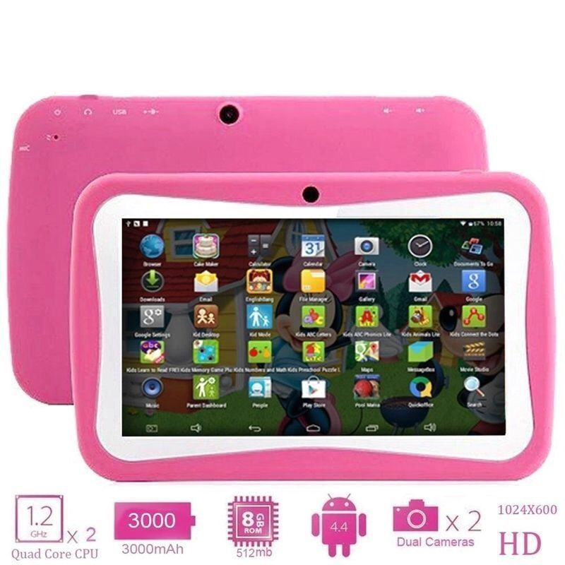 """7"""" ANDROID EDUCATIONAL TABLET PC 4.4 FOR CHILDREN KIDS, 8GB, DUAL CAM, BLUETOOTH, WIFI. NEW ONE"""
