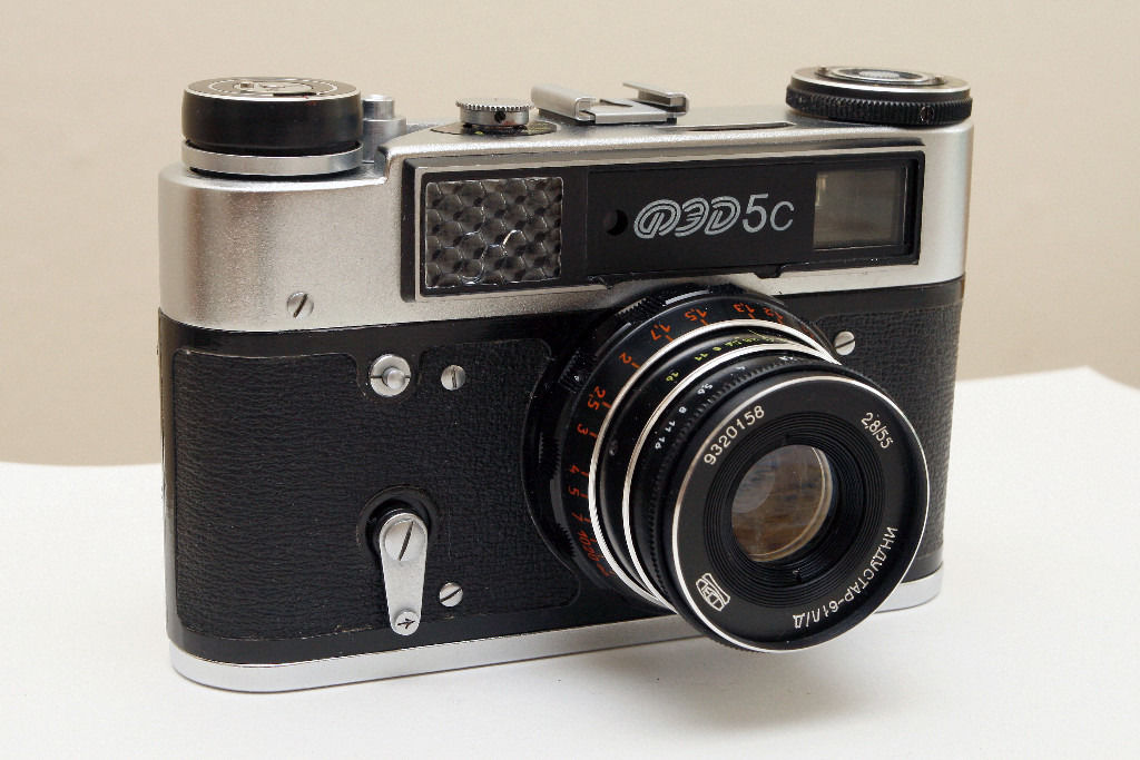 Fed 5c camera with Industar 61L/D lens