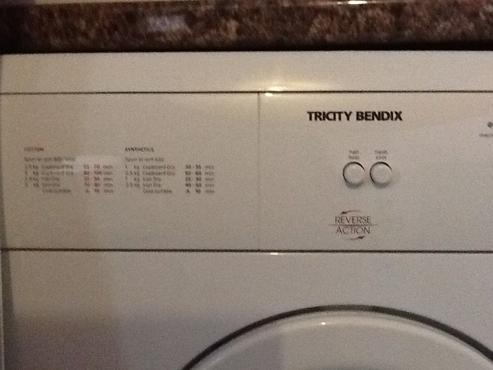 Tricity Bendix tumble dryer