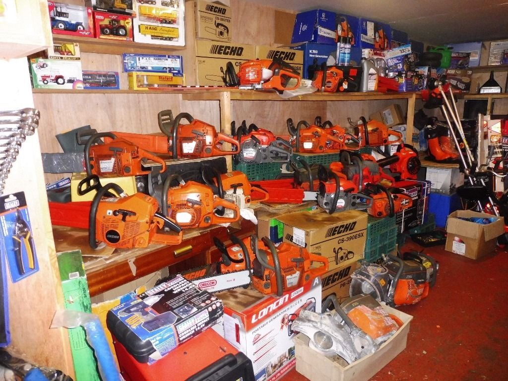 LARGE SELECTION NEW AND USED CHAINSAWS