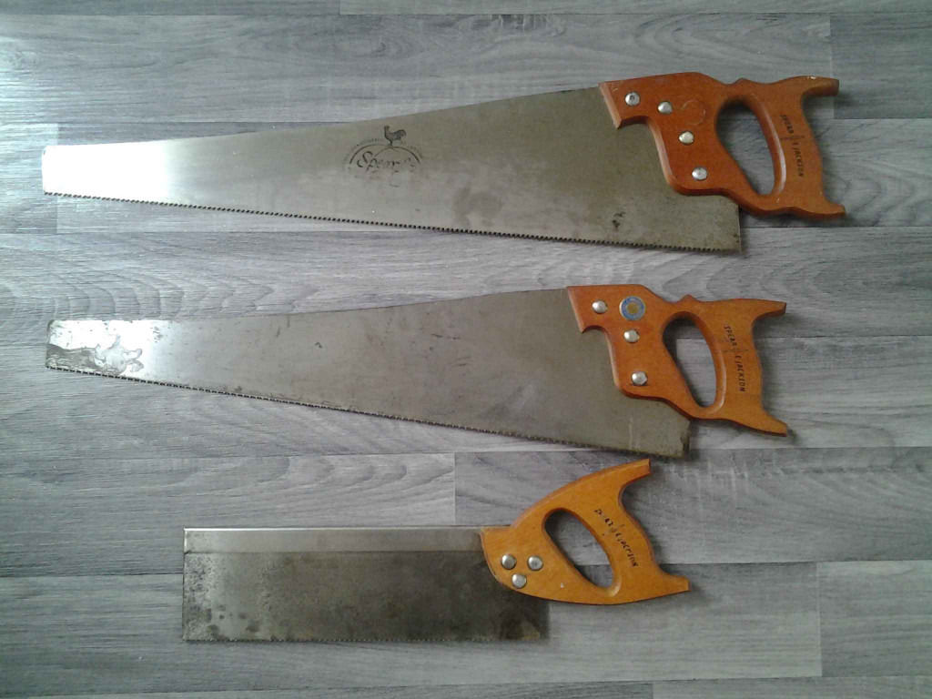 Spear and Jackson Set of 3 Vintage Saws.
