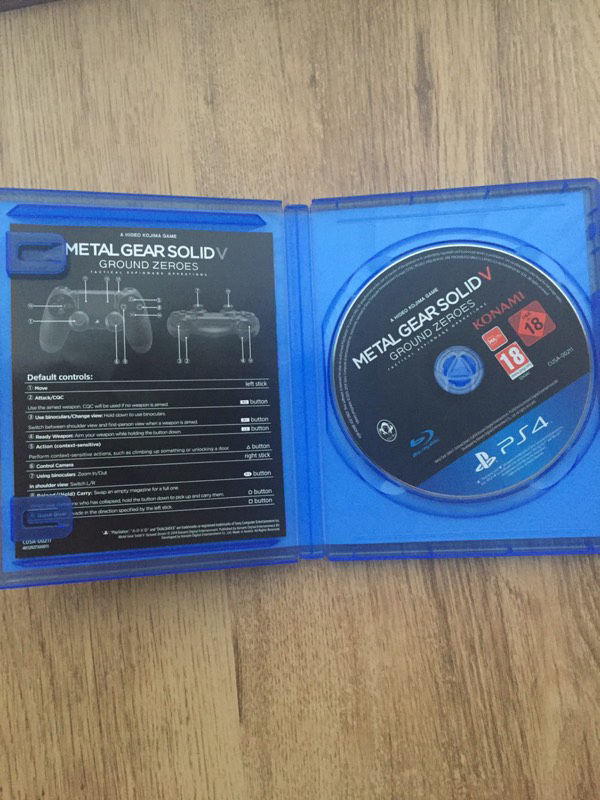Metal Gear Solid V - Ground Zeroes PS4