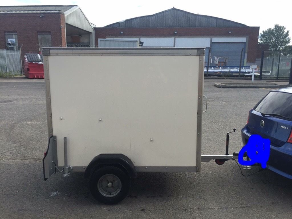 Box trailer 6x4, roller shutter door