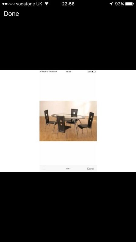 Glass dining table 6 chairs new