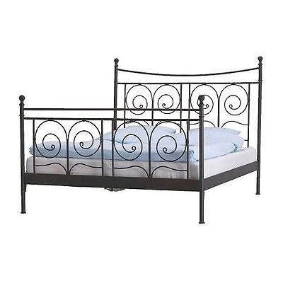 Ikea double bed frame (mattress not included)