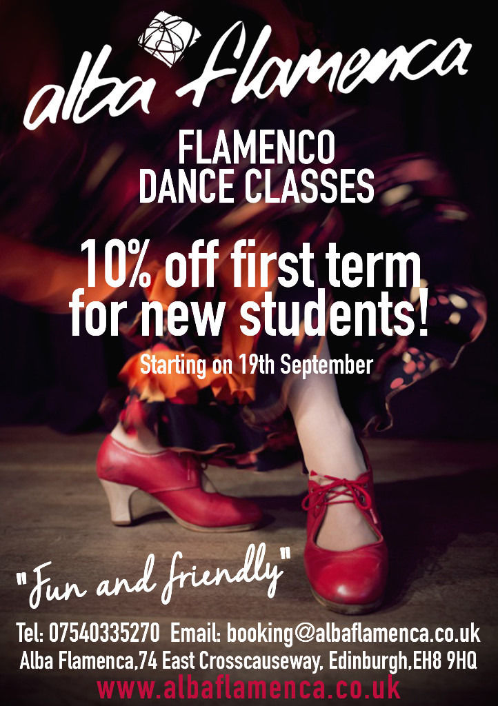 10% DISCOUNT ON FLAMENCO TERM CLASSES FROM SEPT 19TH