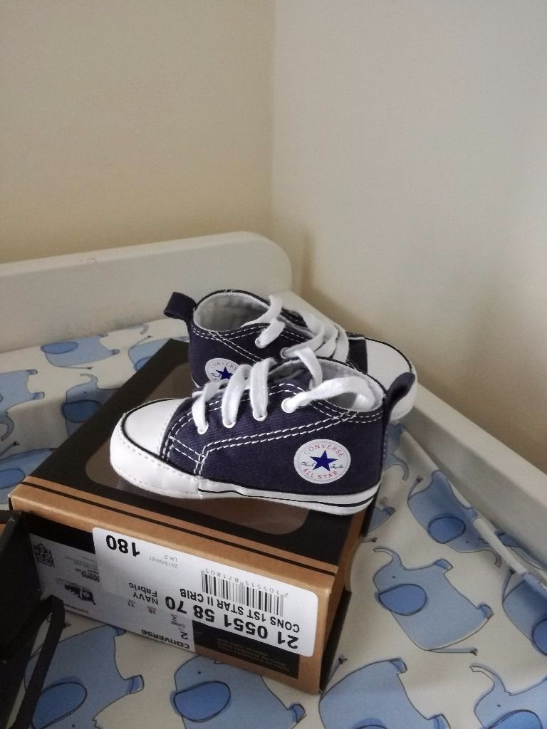 Baby converse worn once