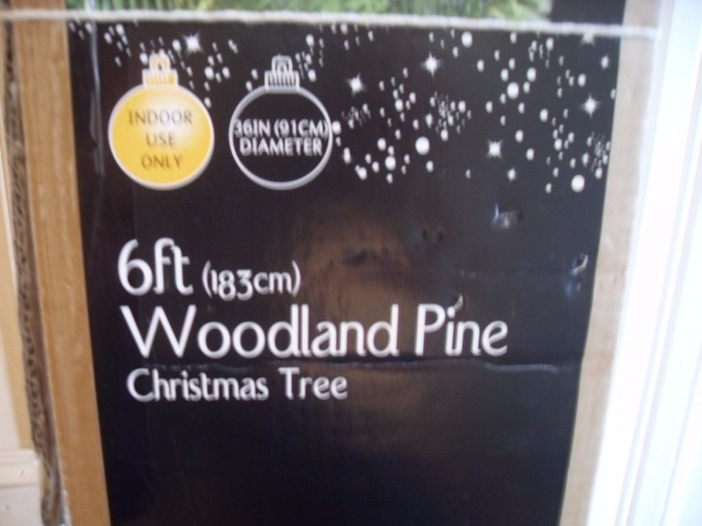 6ft artificial Christmas tree and lights both from B&Q