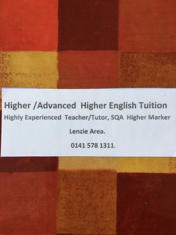 Higher English Tuition