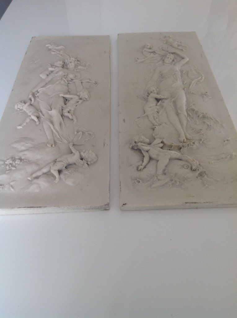 Pair Francois Duquesnoy panels