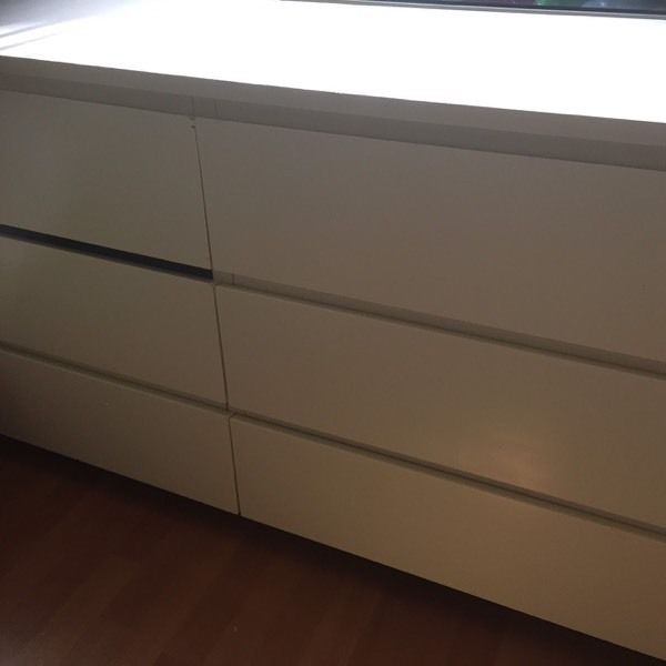 Set of six chest drawers