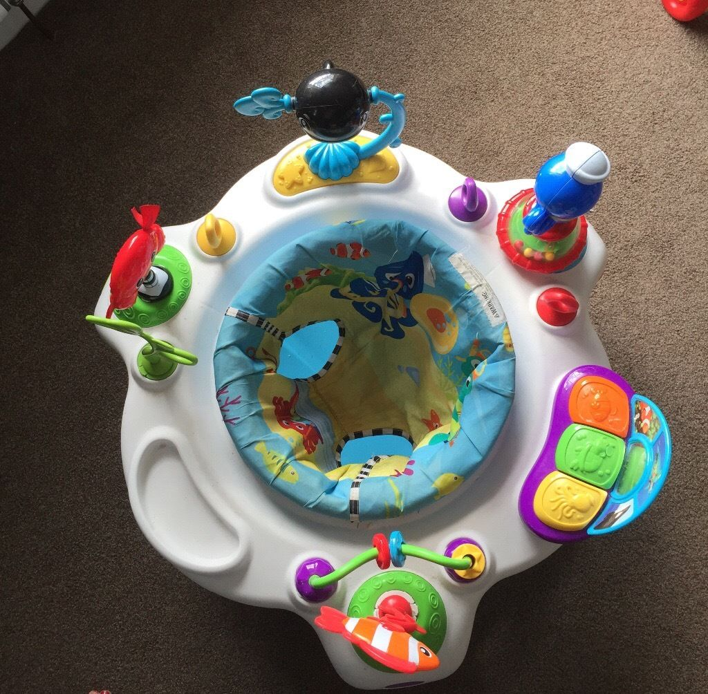 Baby Einstein Rhythm of the Reef Activity Saucer and Vtech First Steps Baby Walker