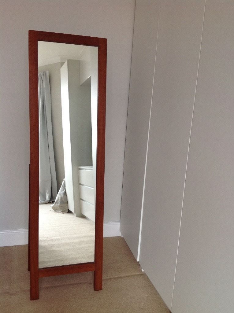 Habitat freestanding real wood mirror