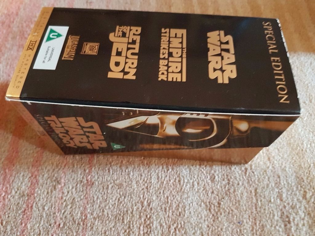 Star Wars Trilogy box set VHS tapes - barely watched