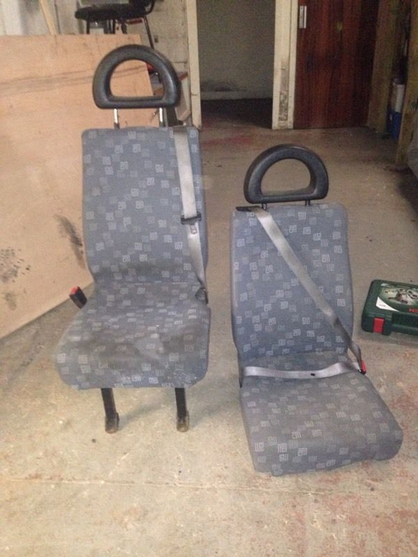 Van seats with seatbelts (from Mercedes Sprinter)