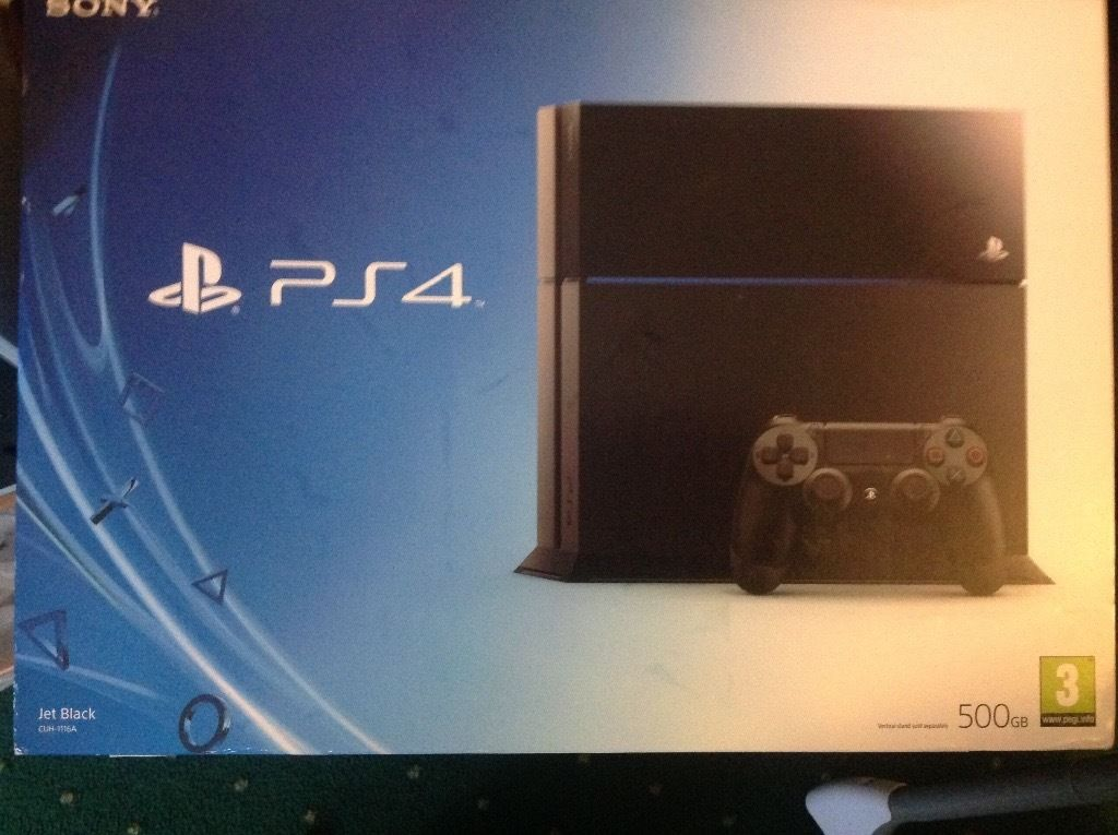 Ps4 brand new unopened 500gb jet black