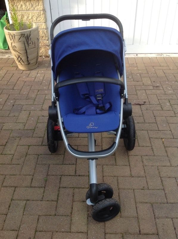 Quinny Buzz xtra pram in royal blue as new
