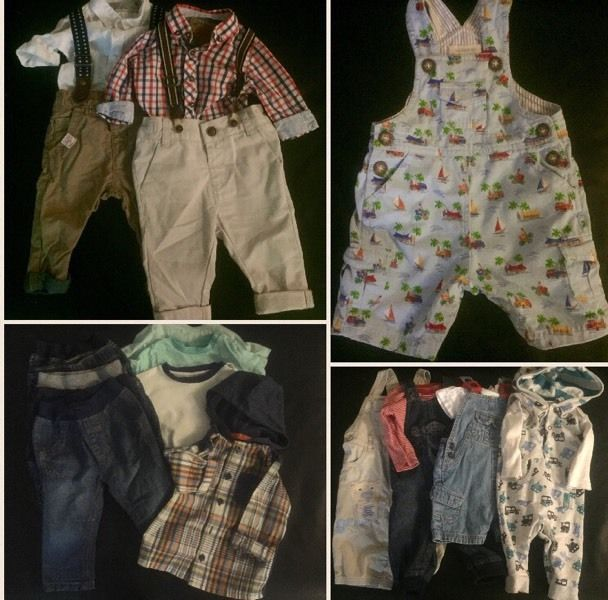 3-6 month Baby Boy Clothes Bundle (including Next, Mothercare, M&Co, Jo Jo Maman Bebe, Blue Zoo)