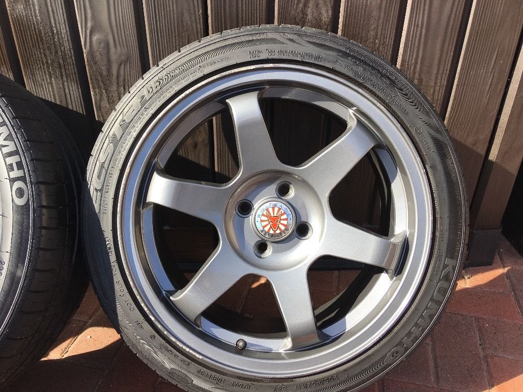 WOLFRACE -- Alloy Wheels 17 inch for BMW Mini One (205/45 ZR17XL) 2 brand new tyres included