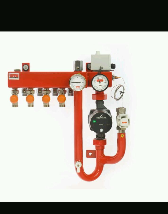 Underfloor heating parts and servicing