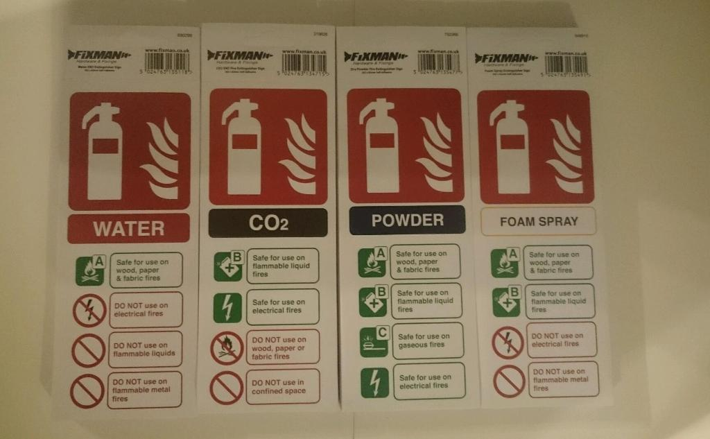 Fire Extinguisher Labels x 200