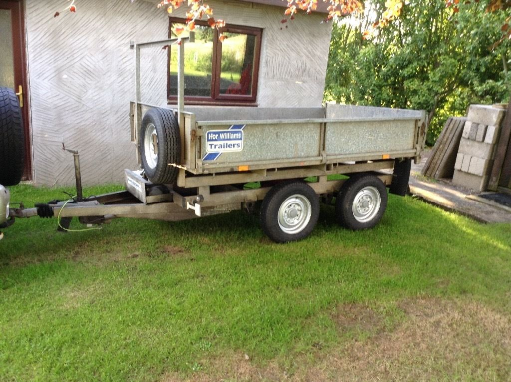 8x5 ifor Williams tipper trailer