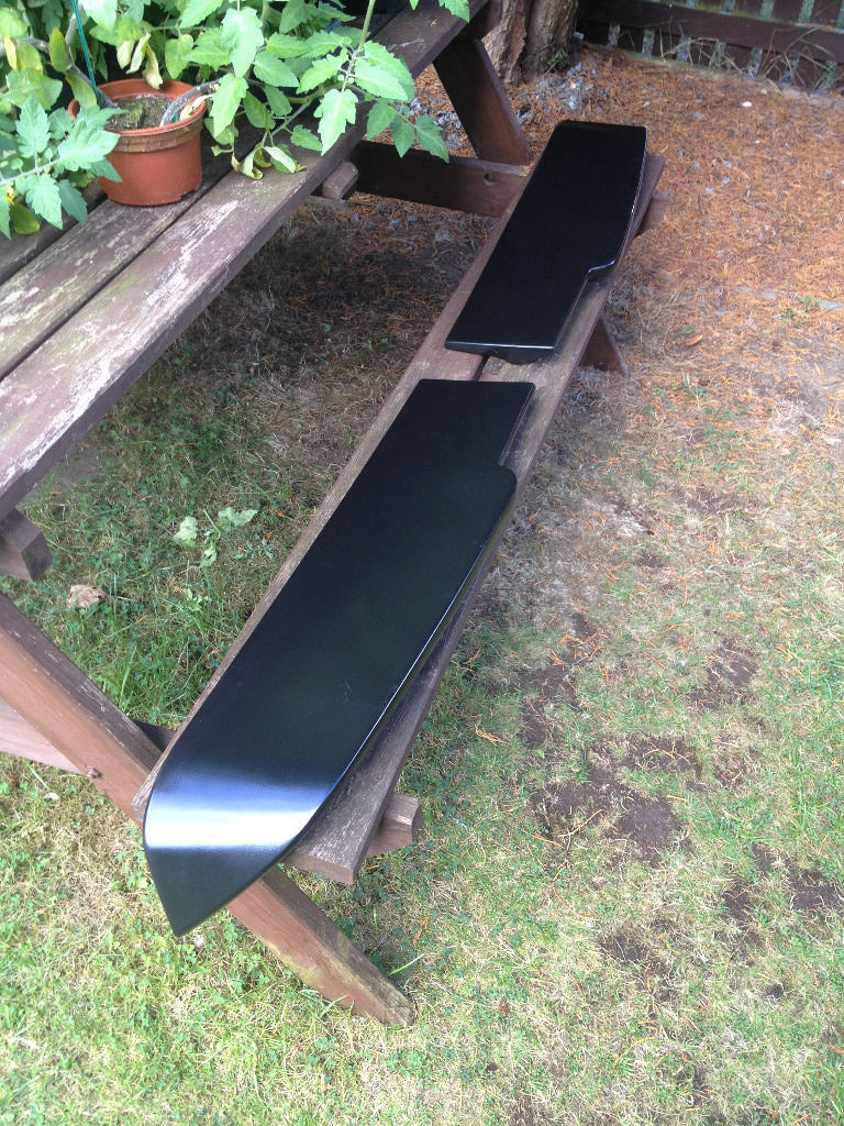 VW TRANSPORTER T5 SPOILER (BARN DOOR) BLACK