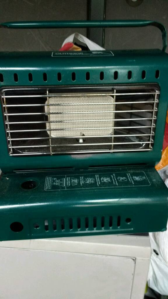 Portable gas camp heater