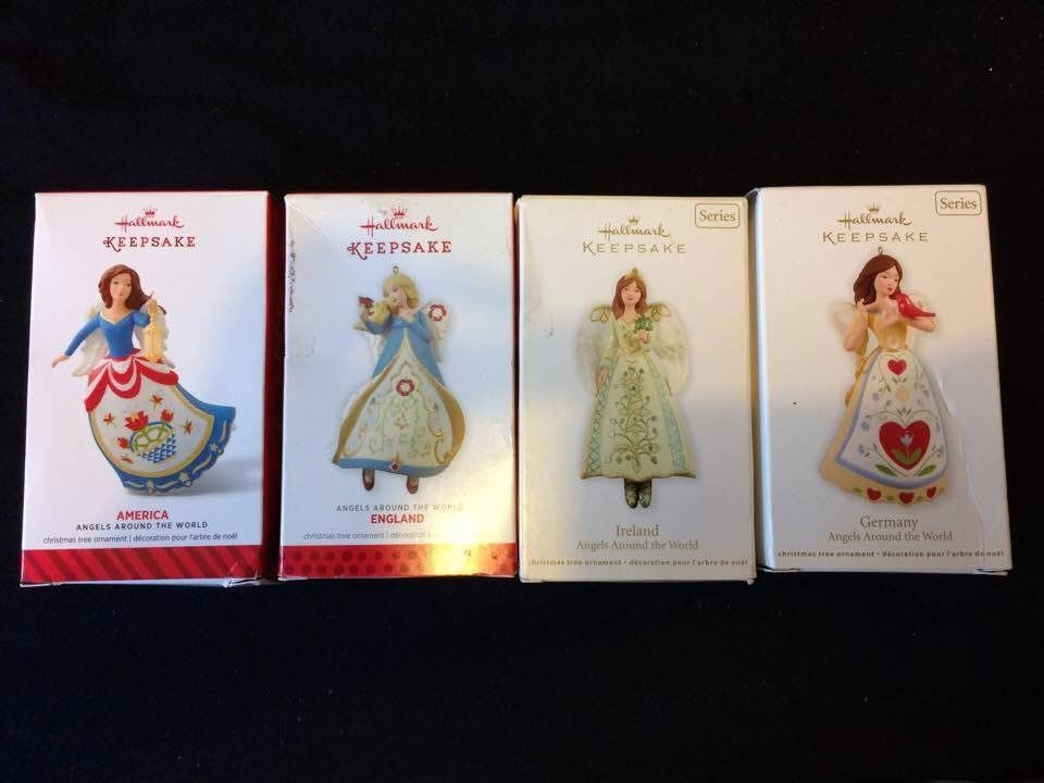 4 X Hallmark Keepsake Ornaments - Angels Around The World Series