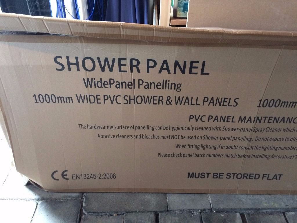 Shower 'wet wall' type partial panel