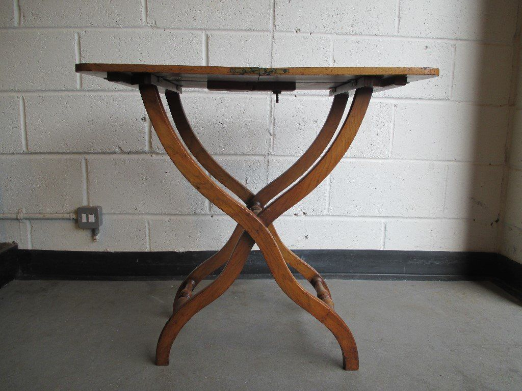MAHOGANY VICTORIAN FOLDING BUTLERS TABLE SERVING TABLE FREE DELIVERY