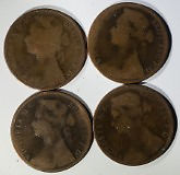 8 Victorian pennies incl 3 x 1874h in good collectible condition