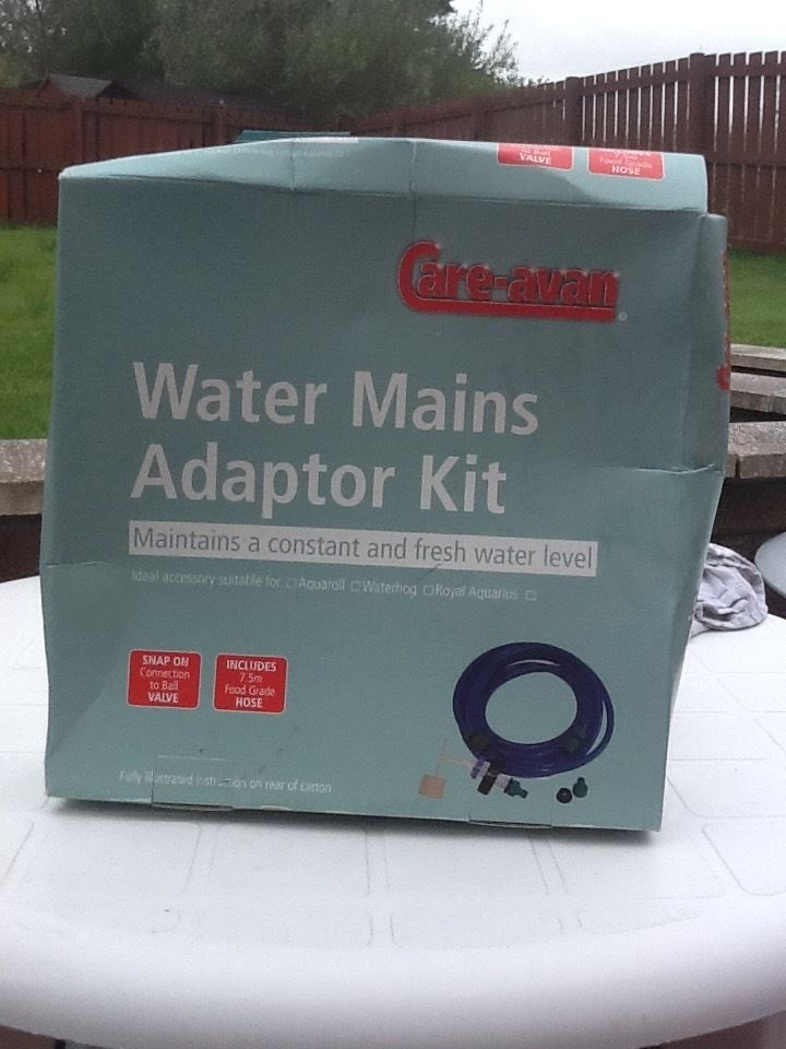Care-avan water mains adaptor kit for sale