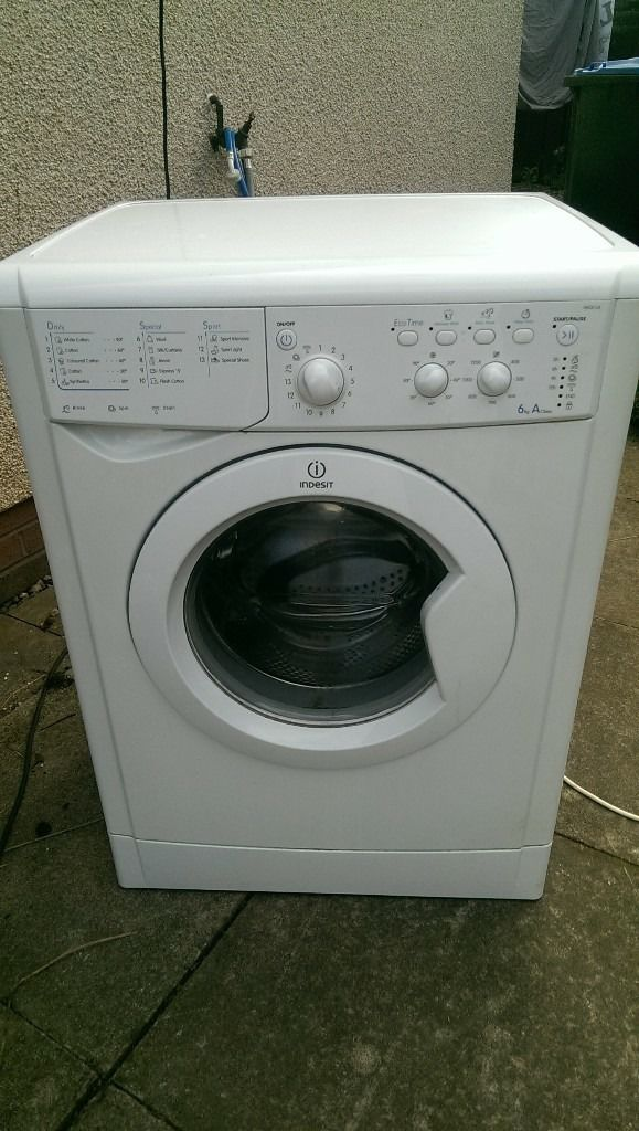 indesit 6kg washing machine. 1200 spin