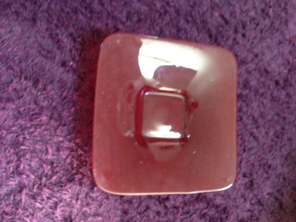 Red glass bowl for sale