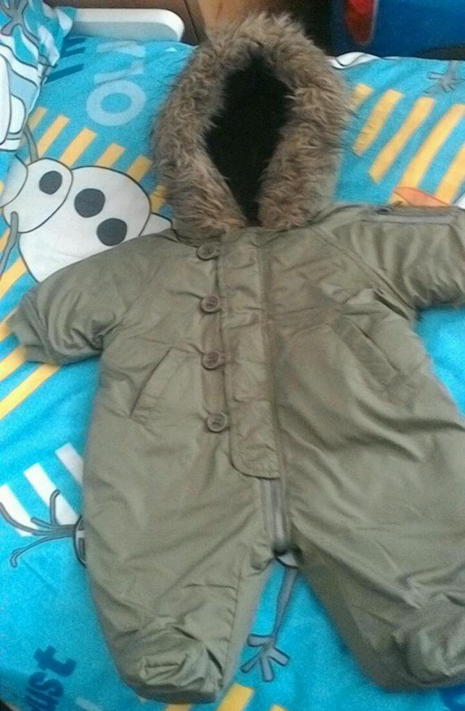 Baby couture snowsuit