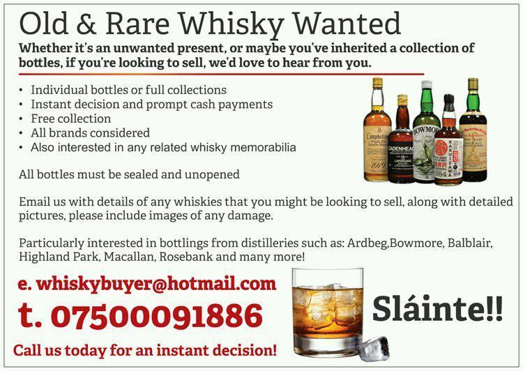 Whisky and Collectibles wanted