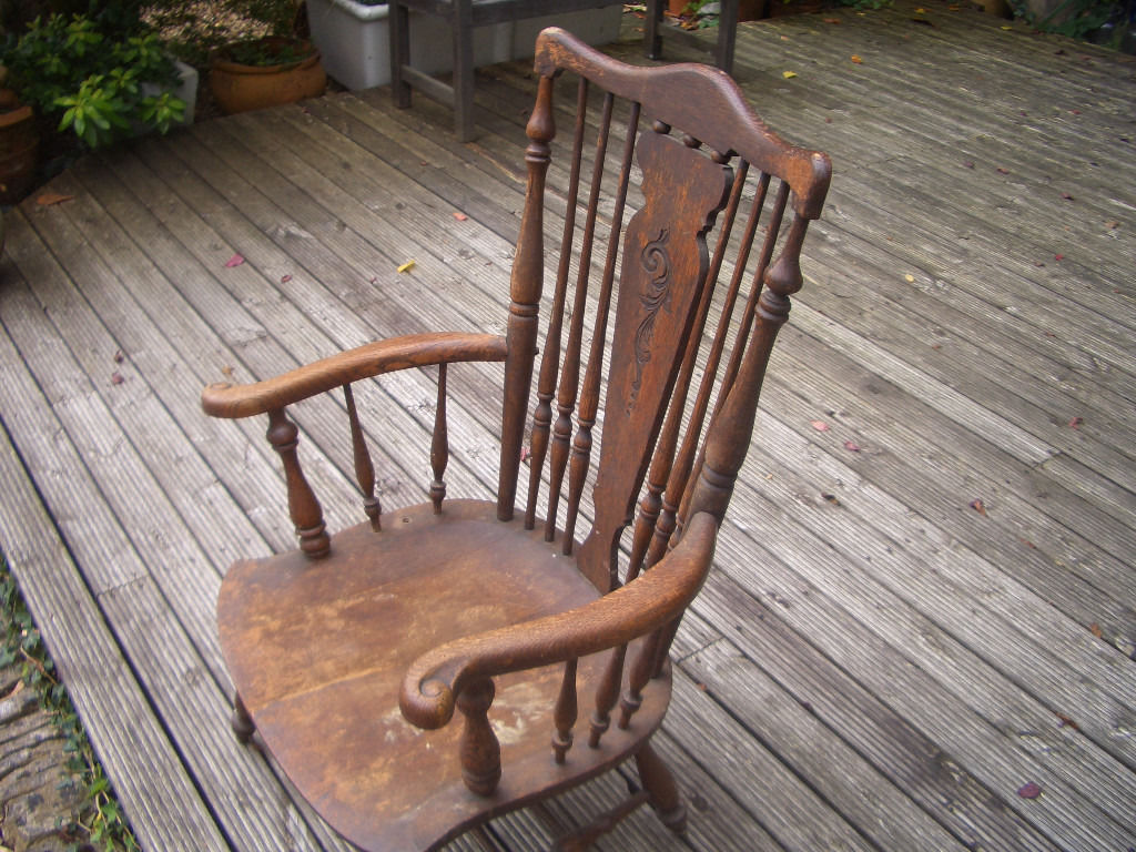 Victorian Spindle back arm Chair