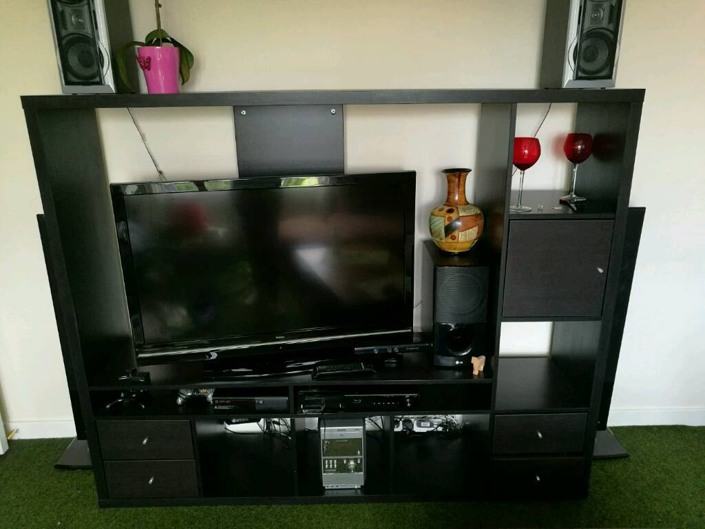Ikea Expedit TV storage unit.