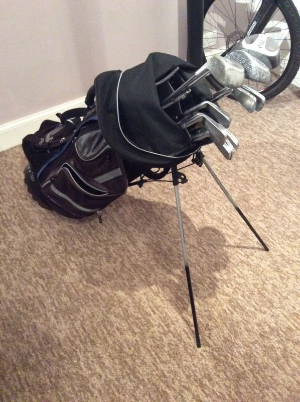 Golf bag and clubs, can also do a deal with over 200 golf balls aswell