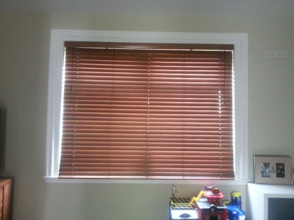 Large real wooden blinds