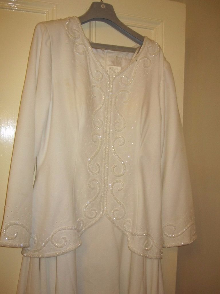 Forever Yours white wedding outfit, 1950's vintage clothing